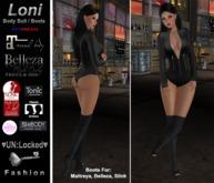 ♥UN:Locked♥ Fashion Latex Loni Body Suit / Peep Toe Boots