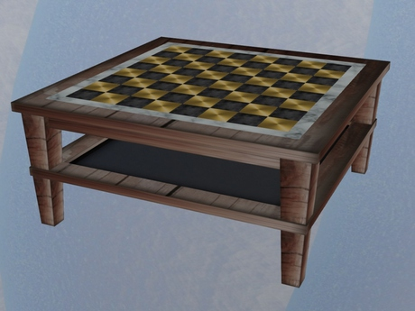 Second Life Marketplace Victoria S Chess Texture Change Coffee Table