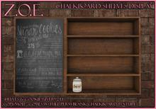 Z.O.E. Chalkboard Shelf Display