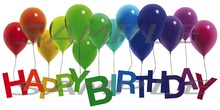 Happy Birthday Poster - Colorful Balloons