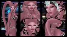 SKBW Rigged Mesh Hair Tentacles - Pink