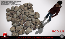 MESHWORX~BUYBOX Crazy Pavers BROWN v2 SALE! (M/C Only)