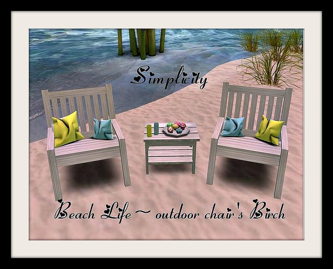 Beach Life Chair's -Birch- PROMO 10L's