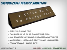 Customizable Desktop Nameplate