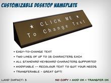 [S2S] Customizable Desktop Nameplate