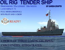 Oil Rig Tender Ship mayday broadcast system