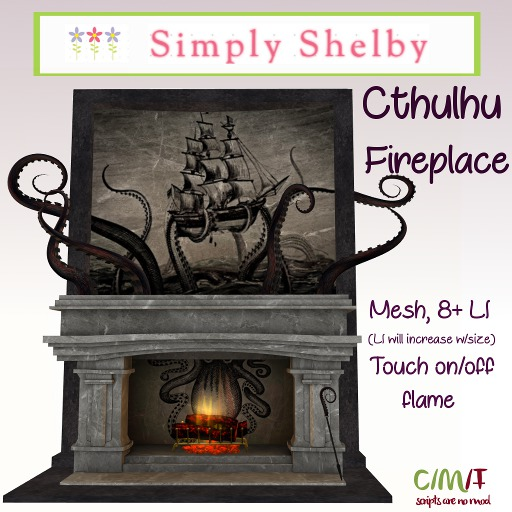 Cthulhu  or Kraken Fireplace Set