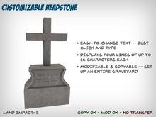 Customizable Headstone