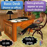 "Basic Desk with ""Magic Surface"" [1 prim]"