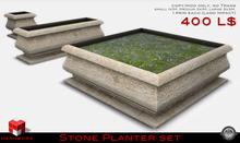 MESHWORX~BOXED~Stone Planter Set (MOD/COPY)