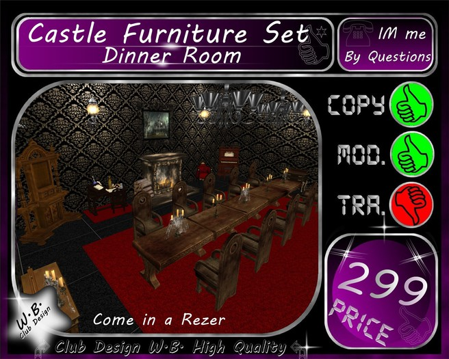 * Castle etc. Dinner Room *