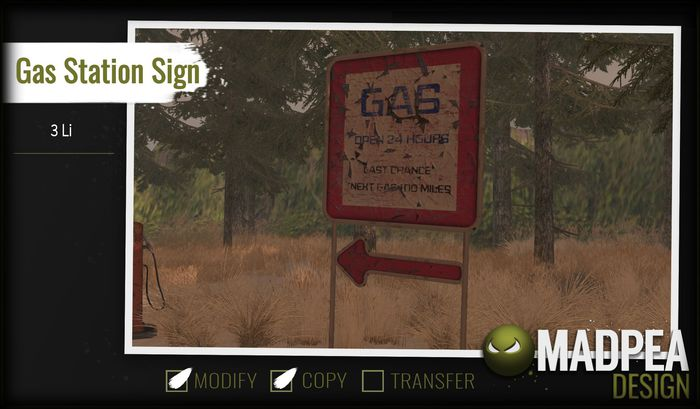MadPea Gas Station Sign Boxed