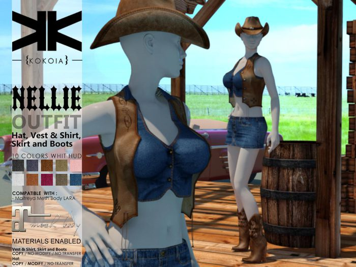 Nellie (COMPLETE OUTFIT)  :: 10 Colors :: {kokoia}