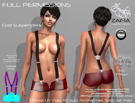 Full Perm-ZAFIA Cool Suspenders-Belleza
