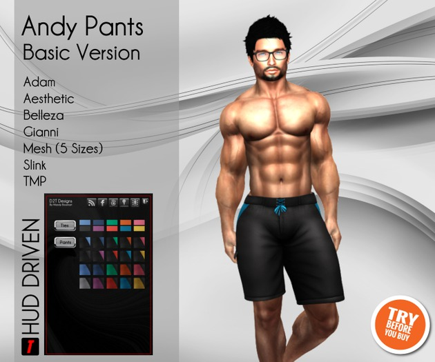 [D2T Designs] Andy Pants Basic [Bag]