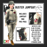 [u] Buster Ghosthunter Jumpsuit and Proto-Pack (Cosplay Ghostbusters Costume + Proton Pack)