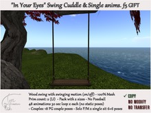 """L$1 GIFT Cuddle Wood Rustic Swing 2 pers.sit-swinging motion-COPY. """"In Your Eyes"""" f5.v2"""