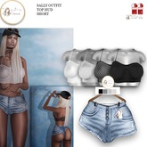 :LFE SALLY outfit short Top hud 2