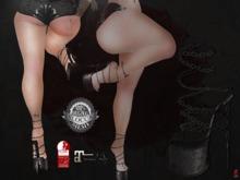 + Occult + Ninja War Shoes {Hourglass&Maitreya} V2 Black&Black