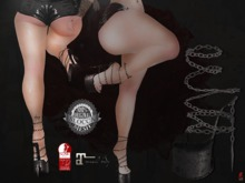 + Occult + Ninja War Shoes {Hourglass&Maitreya} V2 Black&Silver