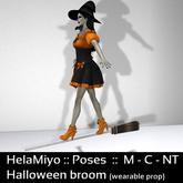 HelaMiyo :: Gift :: Halloween broom standing