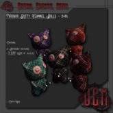 ~D.C.M~ Voodoo Kitty Flannel Dolls