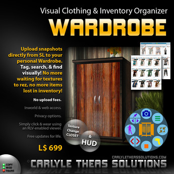 (CTS) Wardrobe: Organize your outfits with style! A visual inventory organizer.