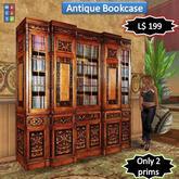 Antique bookcase [2 prims]