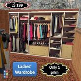 Ladies' Wardrobe, fitted, open plan [1 prim]