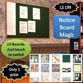Notice Board Magic [1 prim]