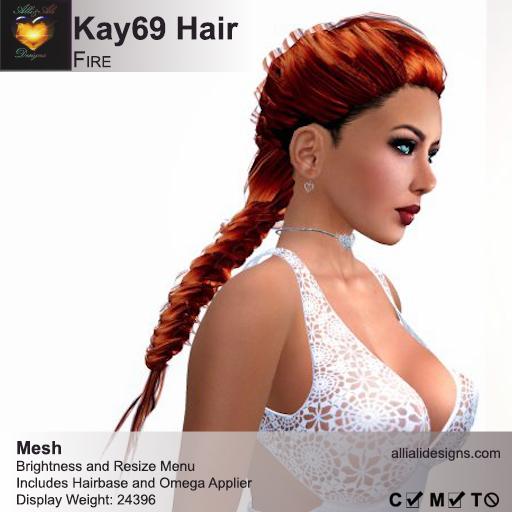 A&A Kay69 Hair Fire (FUNCTIONAL DEMO). Womens mesh braids