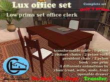 low prims office furniture set CL Design