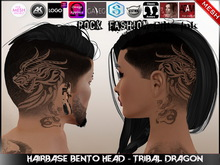 [ HUD ] Hairbase Unisex Bento Head - Tribal Dragon