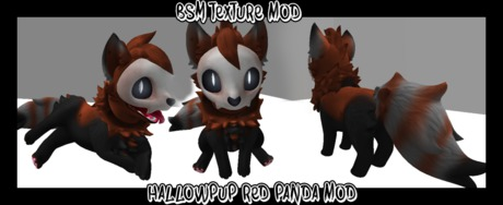 Hallowpup red panda texture mod
