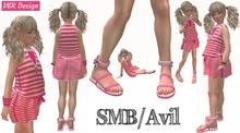 V&K SMB Design Chantale Beach Tunic and flat sandals