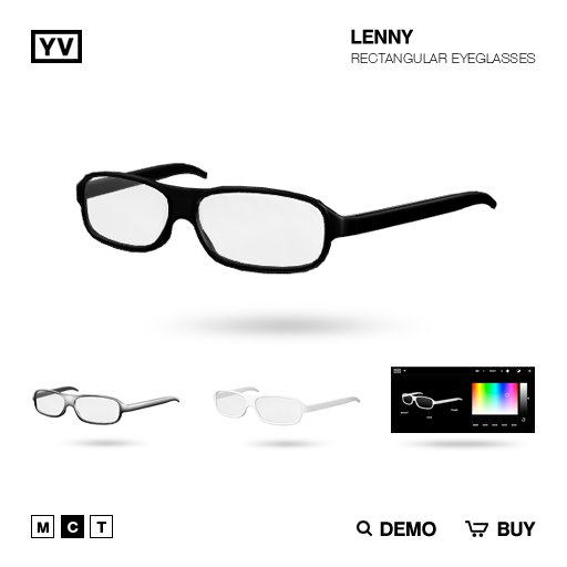 YV - LENNY - RECTANGULAR EYEGLASSES
