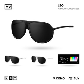 YV - LEO - AVIATOR SUNGLASSES