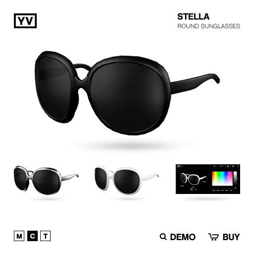 YV - STELLA - ROUND SUNGLASSES