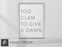 Fancy Decor: Too Glam Art (gold)