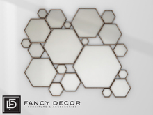 Fancy Decor: Hexagonal Mirrors