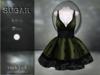 :-:SUGAR:-: Dark Doll Dress {ROACH LACE OLIVE}