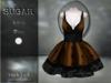 :-:SUGAR:-: Dark Doll Dress {ROACH LACE ORANGE}