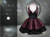 :-:SUGAR:-: Dark Doll Dress {ROACH LACE PINK}