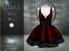:-:SUGAR:-: Dark Doll Dress {ROACH LACE RED} DEMO