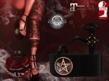+ Occult + Mysteria Shoes {Maitreya & Slink Flat}GOLD