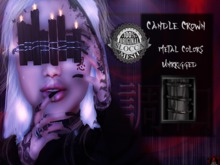 + Occult + Candle Crown Black (Black Metal Colors)