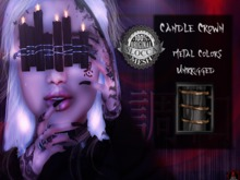 + Occult + Candle Crown Black (Gold Metal Colors)