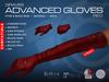GRAVES Advanced Gloves - Red - mesh leather latex gloves, maiteya, belleza, slink ...