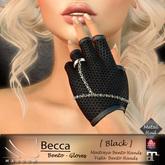 [[ Masoom ]] Becca Bento gloves BLACK