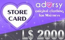 Adorsy Gift Card 2000L$